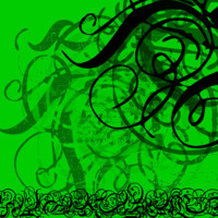Black Swirls on Neon Green