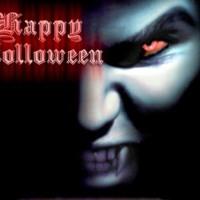 Happy Halloween Blue Vampire