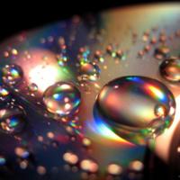 Water Drops w/ Rainbow Light