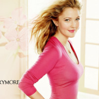 Drew Barrymore in Pink