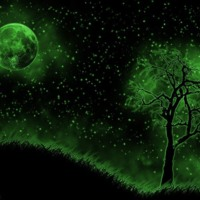 Green Moon Landscape