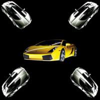 Yellow & Silver Sportscar