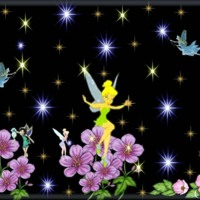 Tink and Fairies w/ Stars & Flowers