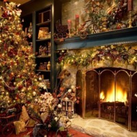 Christmas Tree & Fireplace
