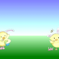 Easter Chicks Cartoon