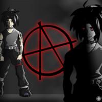 Goth Guy w/ Anarchy Symbol