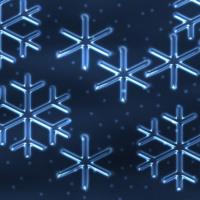 Blue Ice Snowflakes
