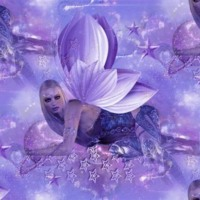 Purple Lotus Flower Fairies