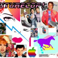 80s teen years collage