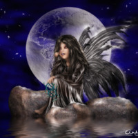 Gothic Fairy in Moonlight