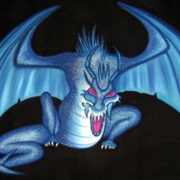 Blue Sparkle Dragon