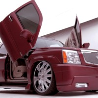 Red Dub Escalade