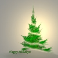 Simple Green & White Christmas Tree