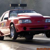Red Racing Mustang