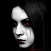 Red Eyed Vamp Girl