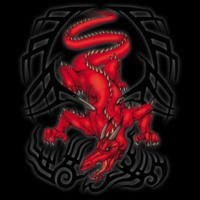 Red Tribal dragon