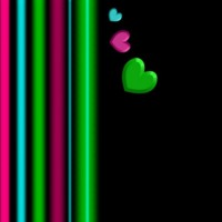Pink, Turquoise & Lime Hearts & Lines