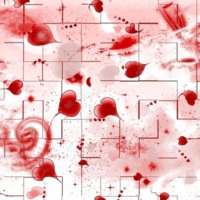 Red Paint Splattered Hearts