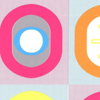 Colourful minimalist 60s ovals