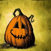 Happy Cartoon Jack-O-Lantern