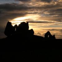 Castle Ruins Sunset