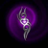 Purple Tribal Heart