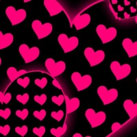 Pink Hearts in Black Hearts