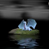 Blue Dragon on Rock Island