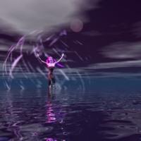Purple Woman & Water
