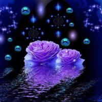 Flowers on water