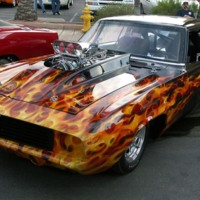 Hot Camaro w/ Flames