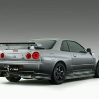 Silver Nissan Skyline