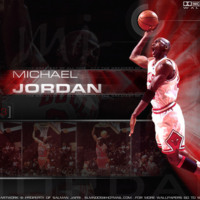Michael Jordan Black & Red Collage