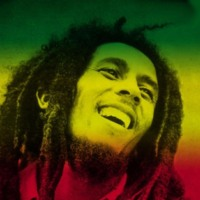 Bob Marley in Green,Yellow & Red