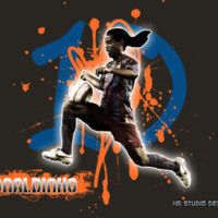 Ronaldinho Grey Orange & Blue