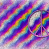 Rainbow Fur & Peace Sign