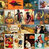 Vintage Halloween Collage