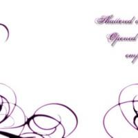 Purple Dragonfly & Swirls