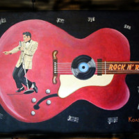 Red Elvis Electric Guitar