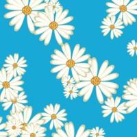 White Daisies on Turquoise