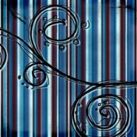 Red.Blue.Black Stripes & Swirls