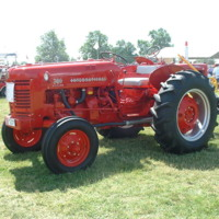 Red International Tractor