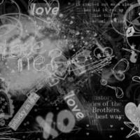 Hearts, Butterflies & Love in Black & Grey