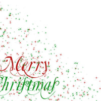Merry Christmas Red & Green Sparkling Stars