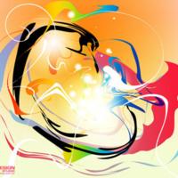 Colorful Paint Swirls