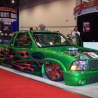 Green S10 Pick Up Truck