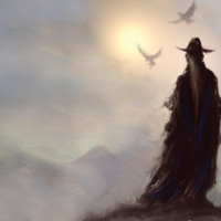 Wizard on Mountain Top