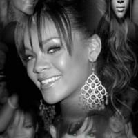 Rihanna Black & White Collage