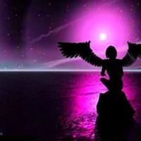 Purple Angel Over Water