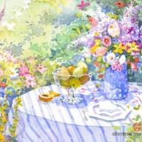 Springtime Watercolor Still Life